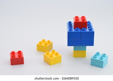 Build from a cubes by children