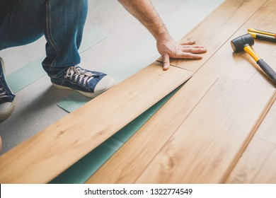 Build a floating floor - flooring - laying laminate