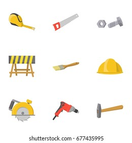 Build and repair set icons in cartoon style. Big collection of build and repair bitmap, raster symbol stock illustration