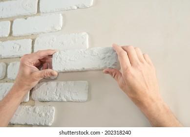 builder stones decorative brick wall
