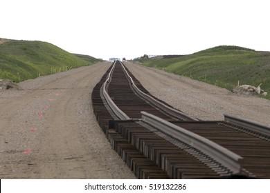 Buildind a railroad Track for a Saskatchewan Potash Mine