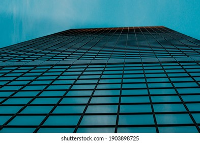 Building from above with clear sky
