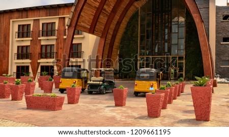6d7fafc180e7 Building of the Aqua Safari Resort in Ghana. Relax at a luxury beach resort.