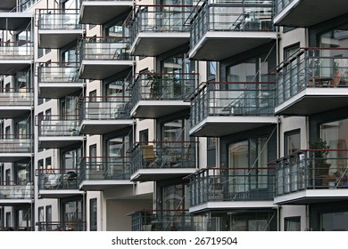 Building with balconies