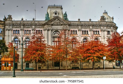 Building of Bank of Portugal in Oporto, Portugal