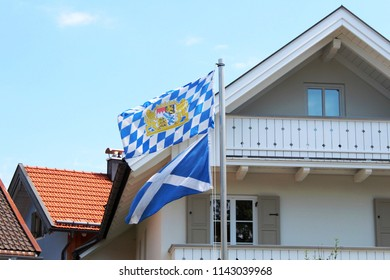 Building with bavarian flag