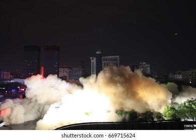 Building blasting