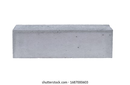 Building block concrete. Isolated on white background