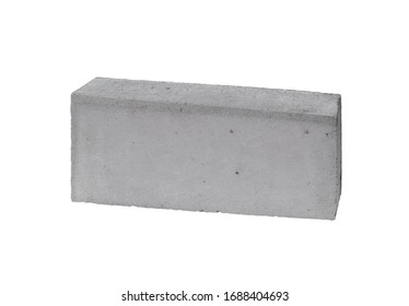 Building block concrete. Isolated on white background, Clipping path