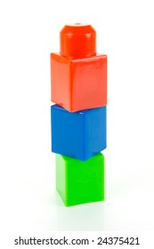 Building blocks isolated against a white background