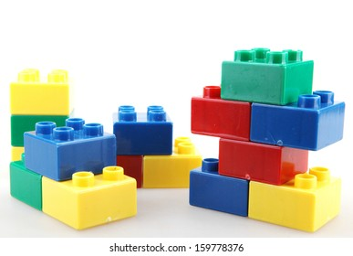 Building Blocks Isolated On White