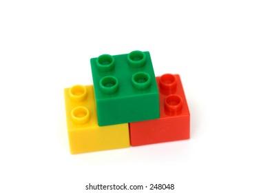 Building Blocks on white background