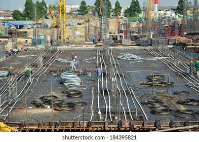 Building Business construction Site at Bangkok Thailand