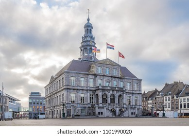 Building of City hall at the Marketplace in Maastricht, Netherlands