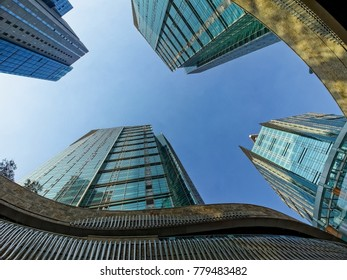 A building in the city . low angle view