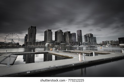 Building Cityscape View taken from Docklands Harbour, Victoria, Melbourne, Australia