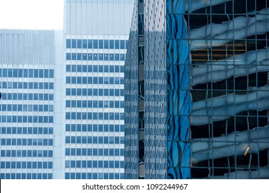 Building close up with reflection background
