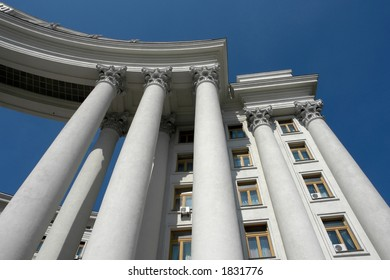 Building with columns.