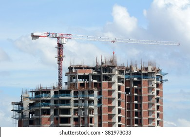 Building construction in Bangalore, India.