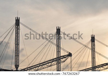 Building Construction Model Used Steel Frame Stock Photo (Edit Now ...