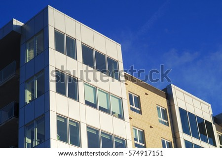 building corner business or residential office perspective
