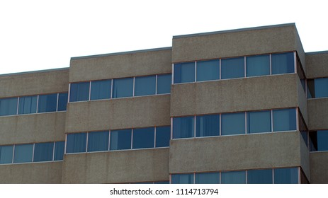 building corner top concrete and windows gray office business