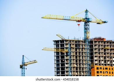 Building. Crane. House. - Shutterstock ID 434018158