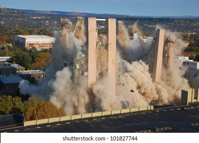 Building demolition by implosion - image 8 of a 10 shot sequence