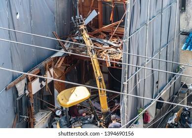Building demolition of  Japanese house