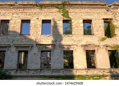 Building destroyed in Bosnian war