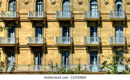 Building detail of San Sebastian, Spain