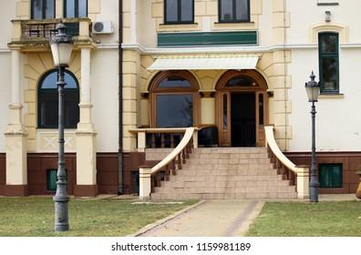 building entrance Palic Subotica Serbia Europe