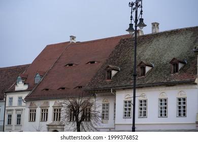 Building European Romanian architecture in Sibiu, Transylvania