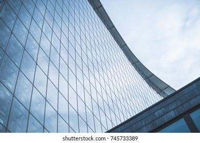 building exterior -  modern architecture , glass facade