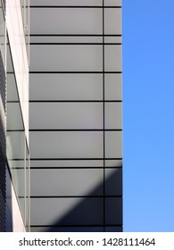 Building exterior wall and blue sky