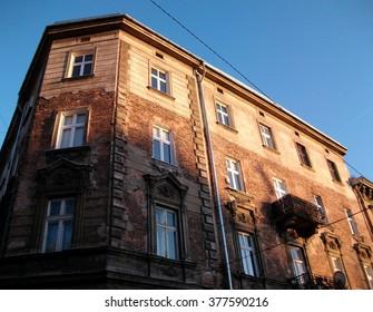 Building facade in Krakow