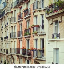 Building facade in Paris, France