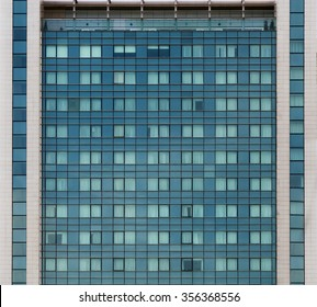 Building facade with repeated pattern