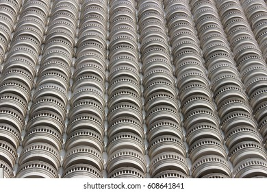 Building facades pattern. Terrace design. Architecture design. Building design.