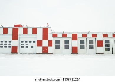 the building of the firehouse in the winter