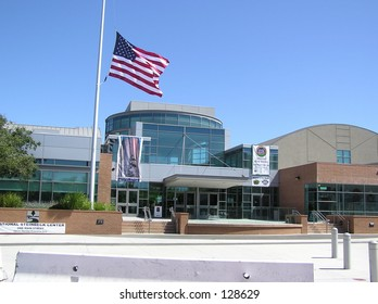 Building with a Flag