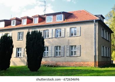 building of former GDR gray