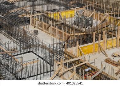 building foundation basis construction site