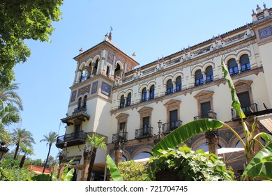 Building of General Archive of the Indies in Seville, Spain. Spanish Renaissance architecture example, famous city touristic landmark on bright summer season. World Heritage Site registered by UNESCO.