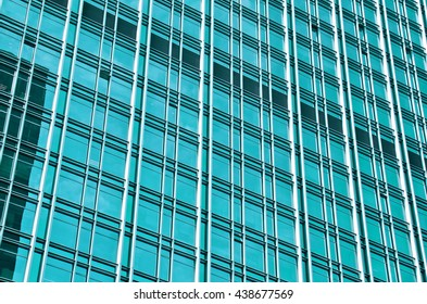 Building of glass.