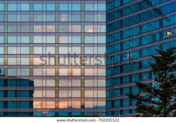 Building with glass