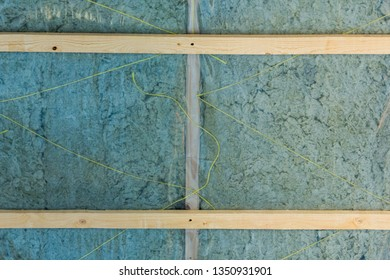 Building glass wool in roof