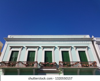 building with green shutters in Ponce, Puerto Rico