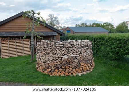 Building Holz Hausen Stock Photo Edit Now 1077024185 Shutterstock