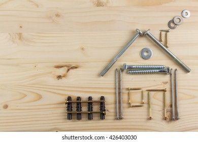Building A House For The Family. Plans To Build A Small House. Architect  Designing